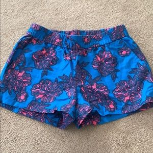 J crew shorts blue with pink/ navy flowers 00